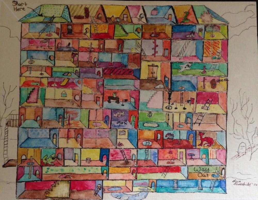 Maze dollhouse painting